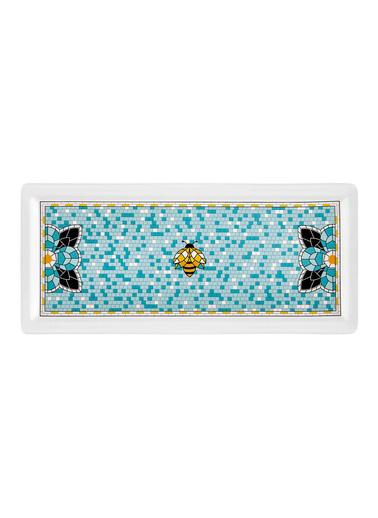 The Mia Patio Dikdörtgen Servis - 35 x 16 cm Renkli